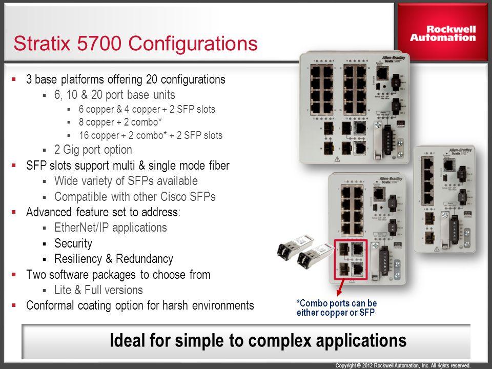 Stratix 5700 Configurations