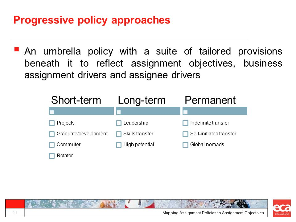 Progressive policy approaches