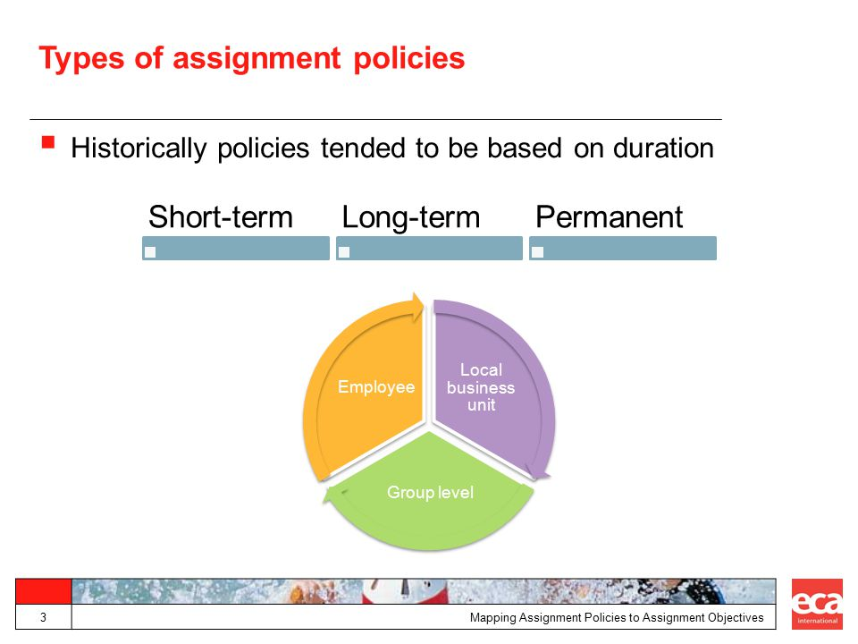 Types of assignment policies