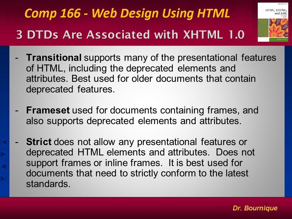 3 DTDs Are Associated with XHTML 1.0