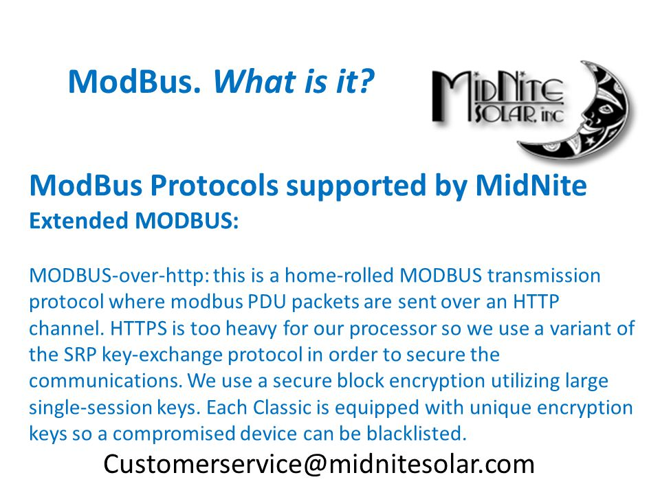 ModBus. What is it