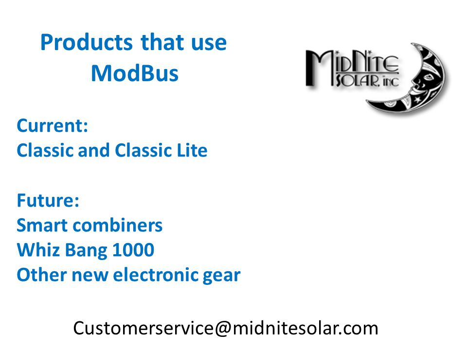 Products that use ModBus