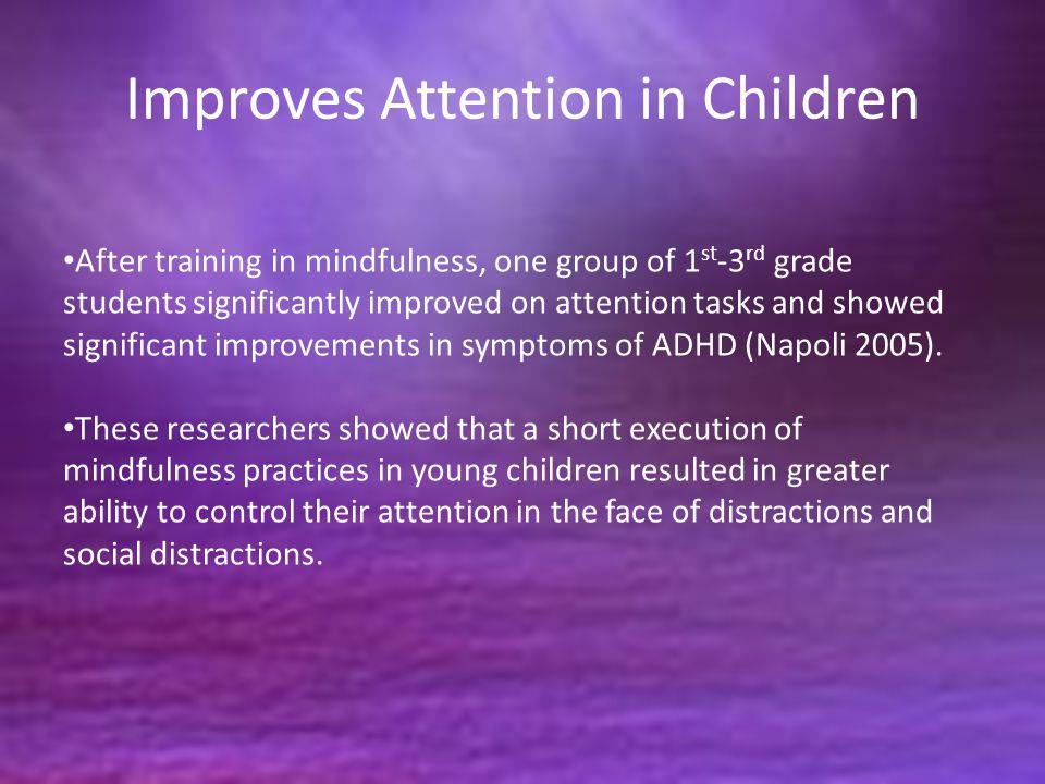 Improves Attention in Children