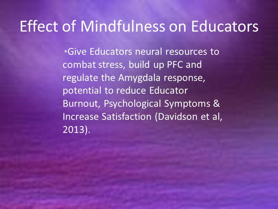 Effect of Mindfulness on Educators