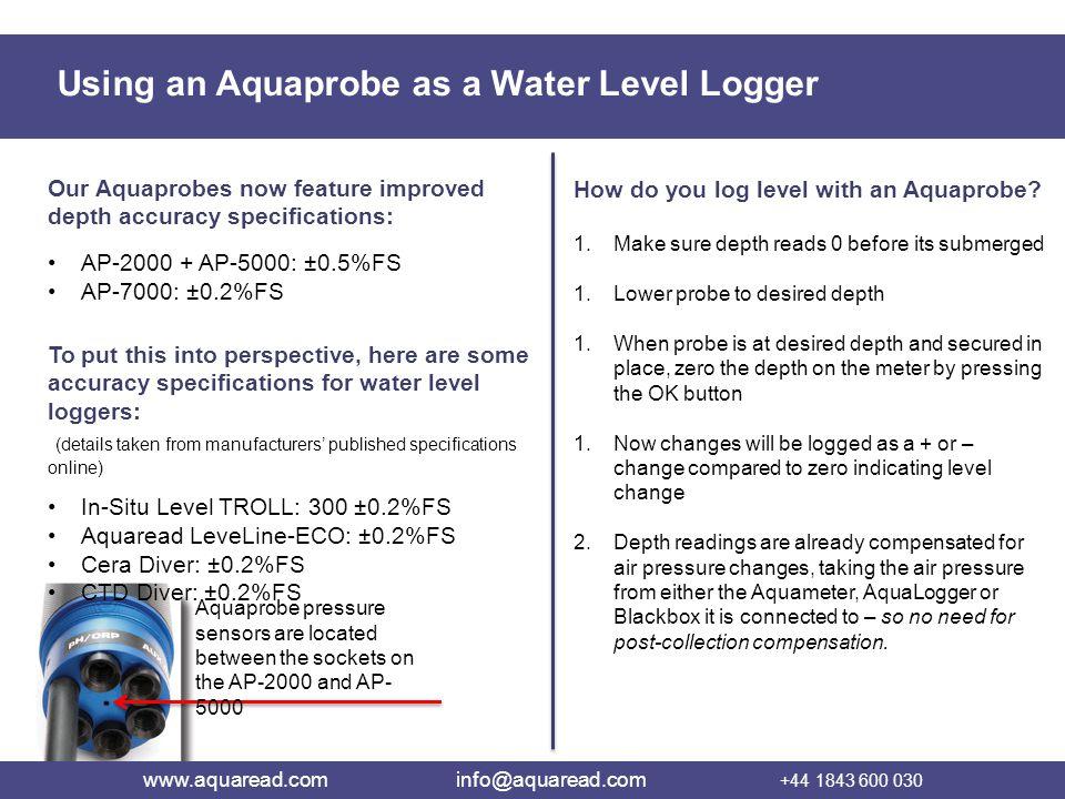 www.aquaread.com info@aquaread.com +44 1843 600 030