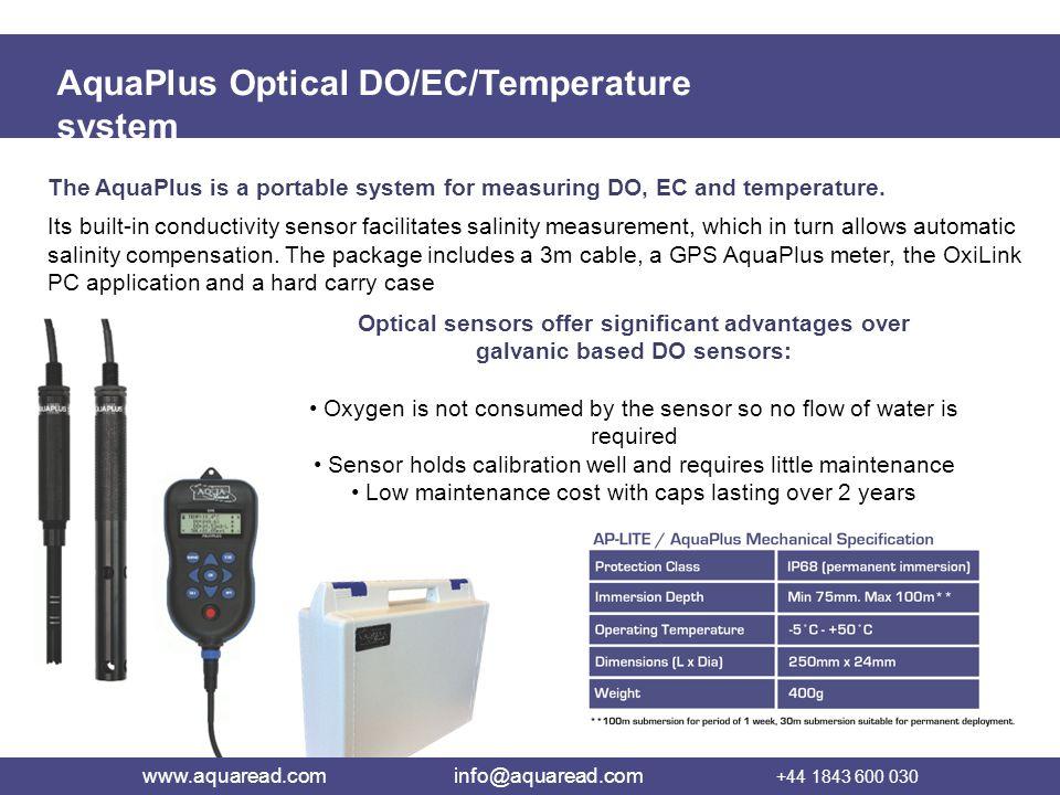 AquaPlus Optical DO/EC/Temperature system