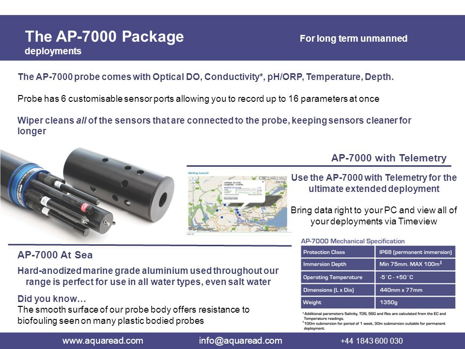 Use the AP-7000 with Telemetry for the ultimate extended deployment