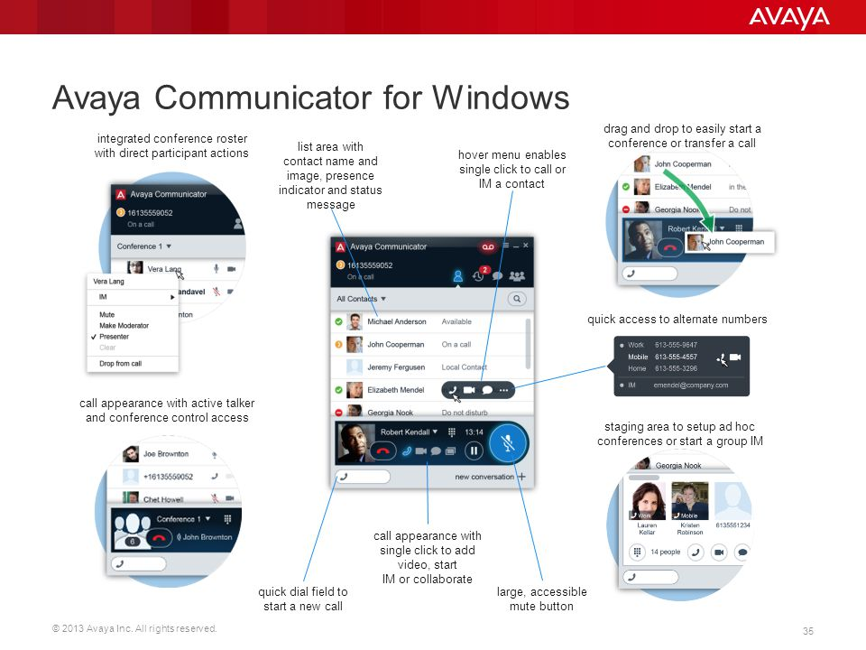 Avaya Communicator for Windows
