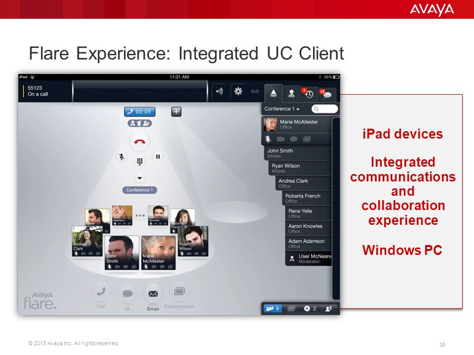 Flare Experience: Integrated UC Client