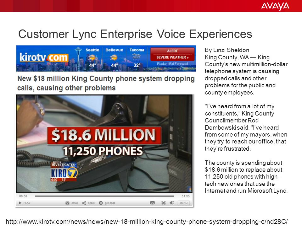 Customer Lync Enterprise Voice Experiences