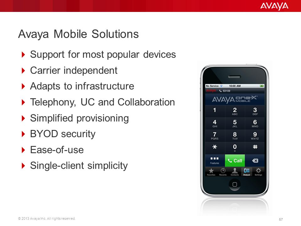Avaya Mobile Solutions