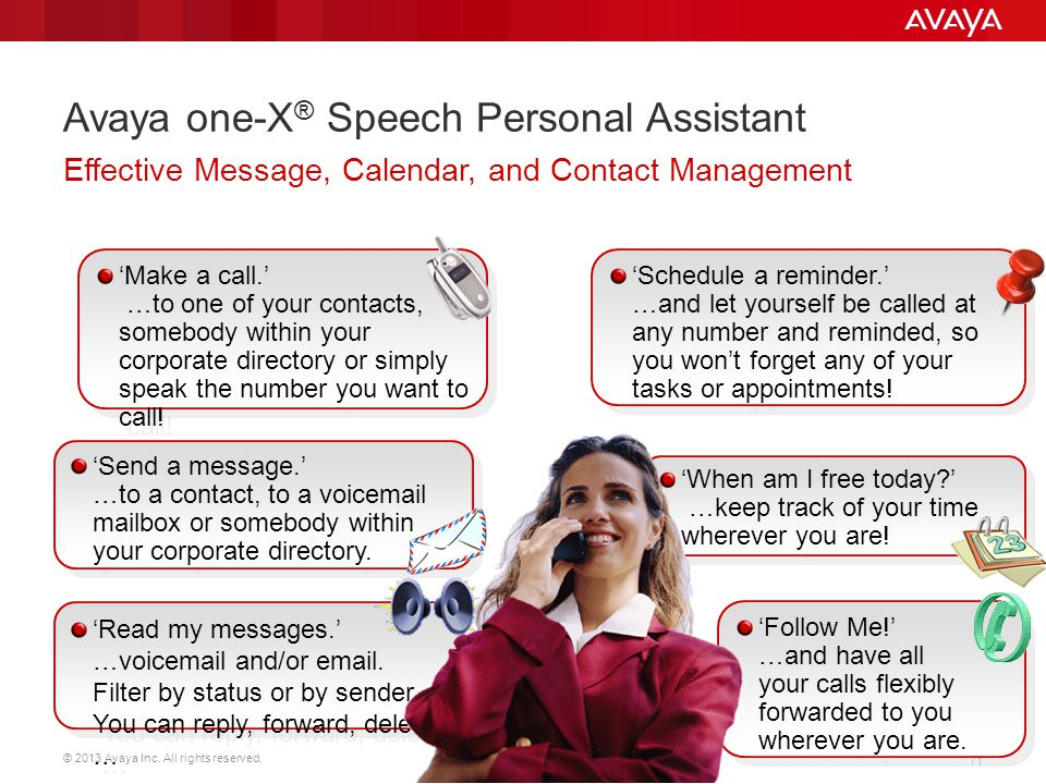Avaya one-X® Speech Personal Assistant