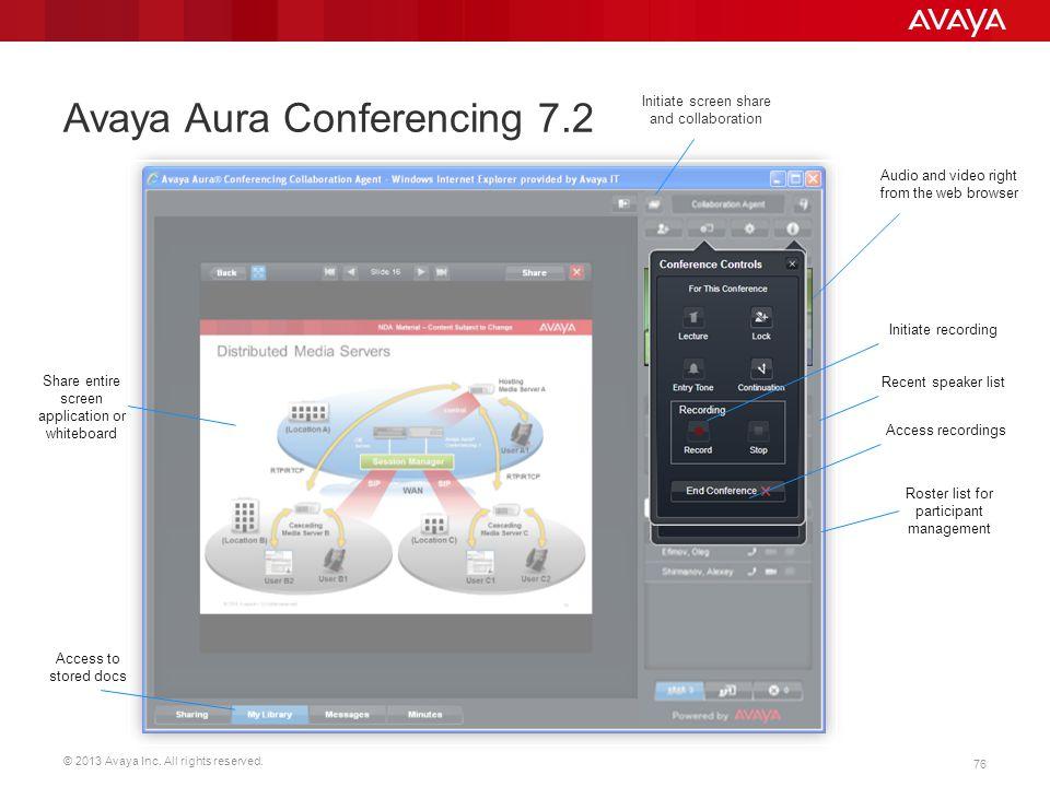 Avaya Aura Conferencing 7.2
