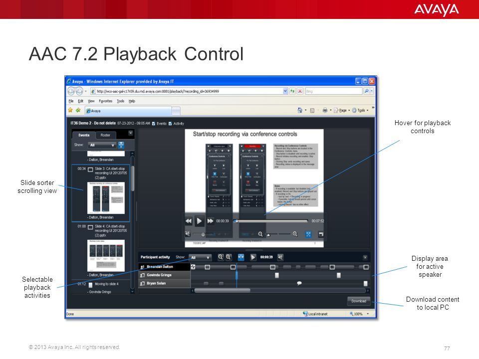 AAC 7.2 Playback Control Hover for playback controls