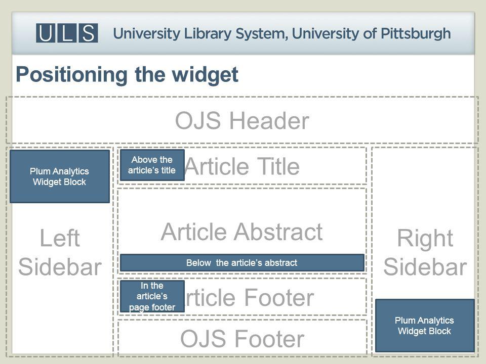 Positioning the widget