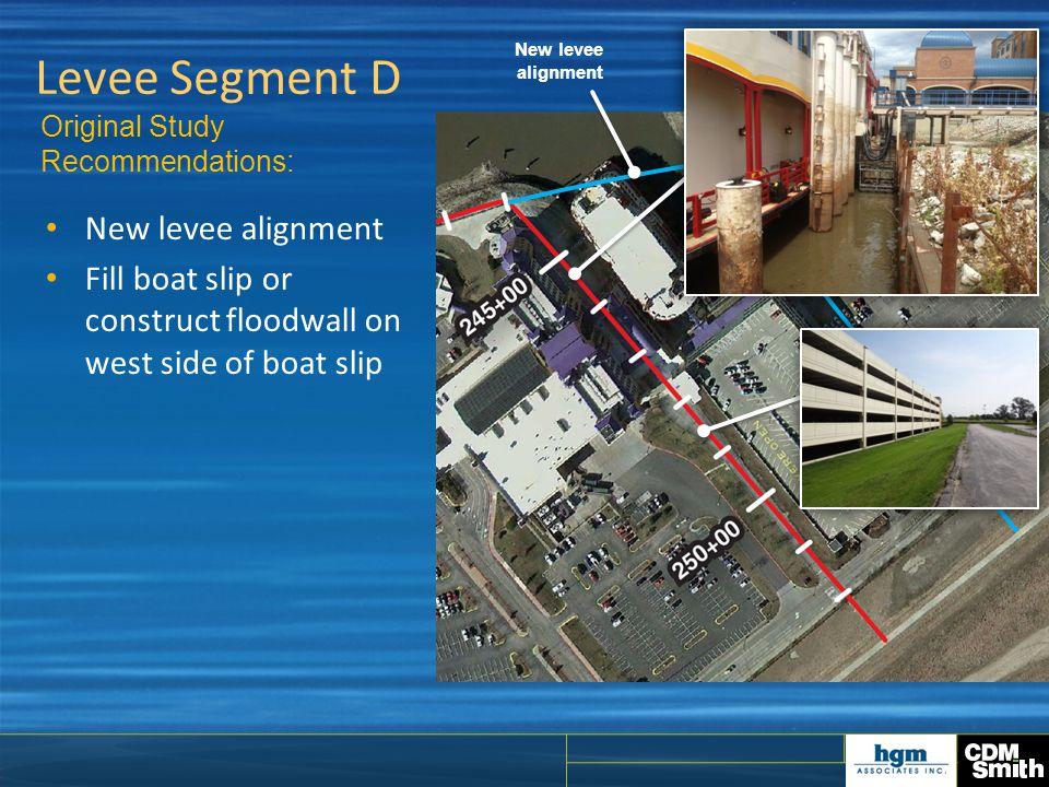 Levee Segment D New levee alignment