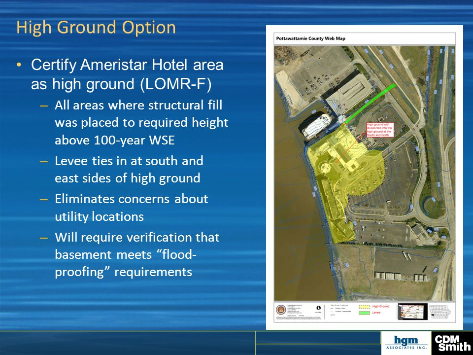 High Ground Option Certify Ameristar Hotel area as high ground (LOMR-F)