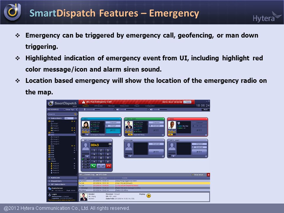 SmartDispatch Features – Emergency