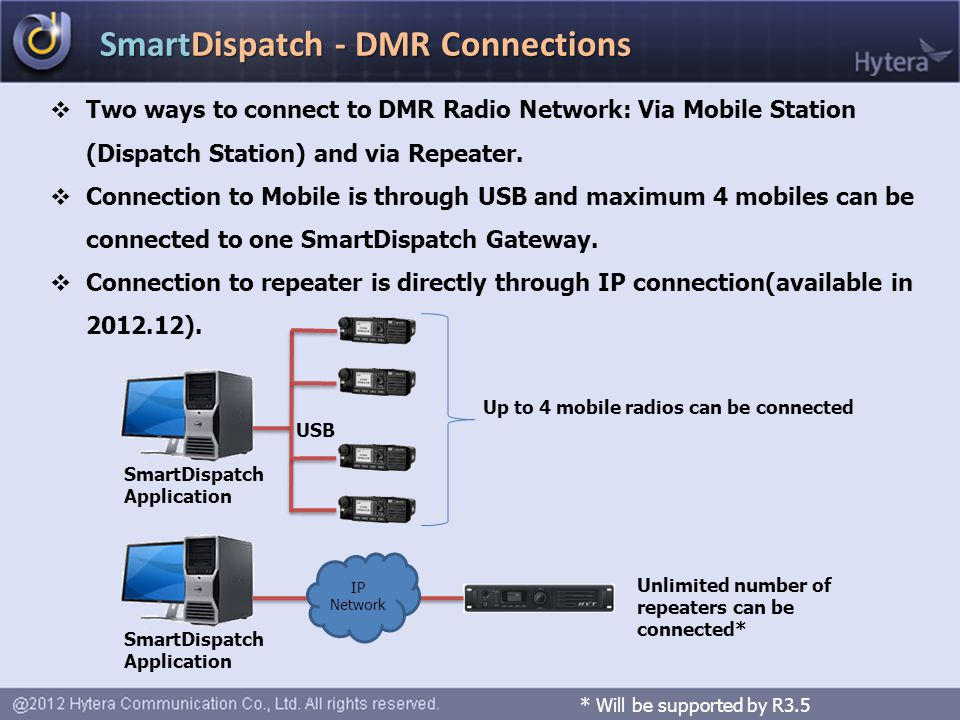 SmartDispatch - DMR Connections