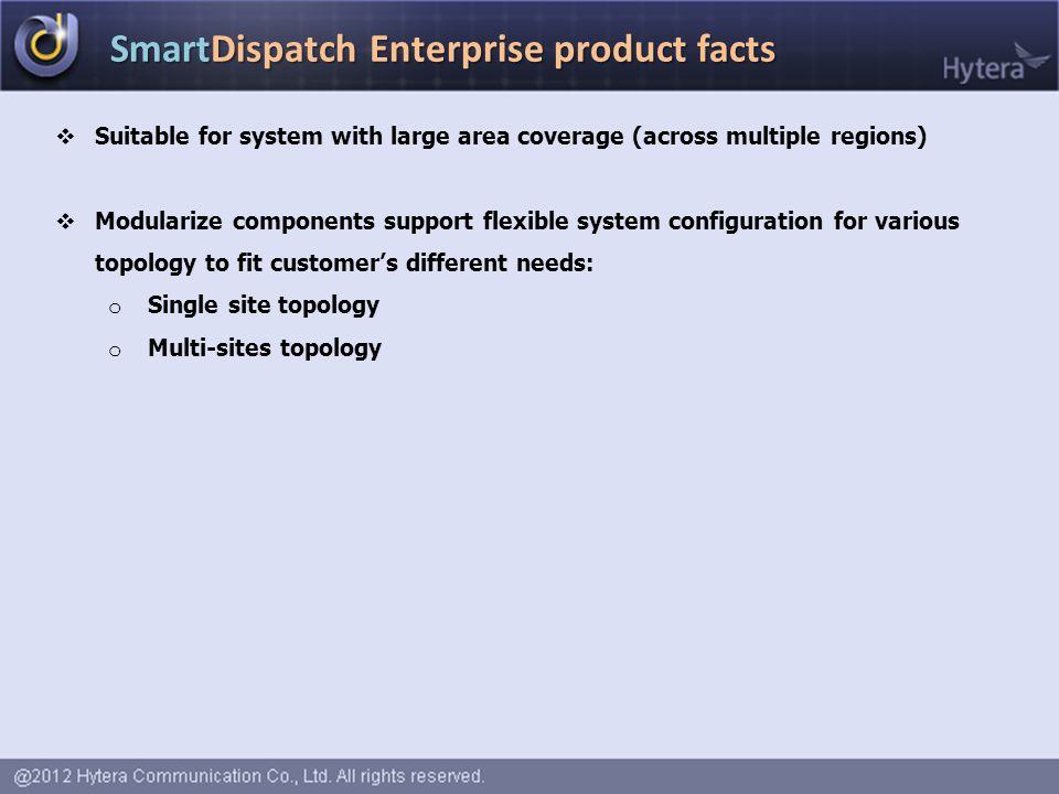 SmartDispatch Enterprise product facts
