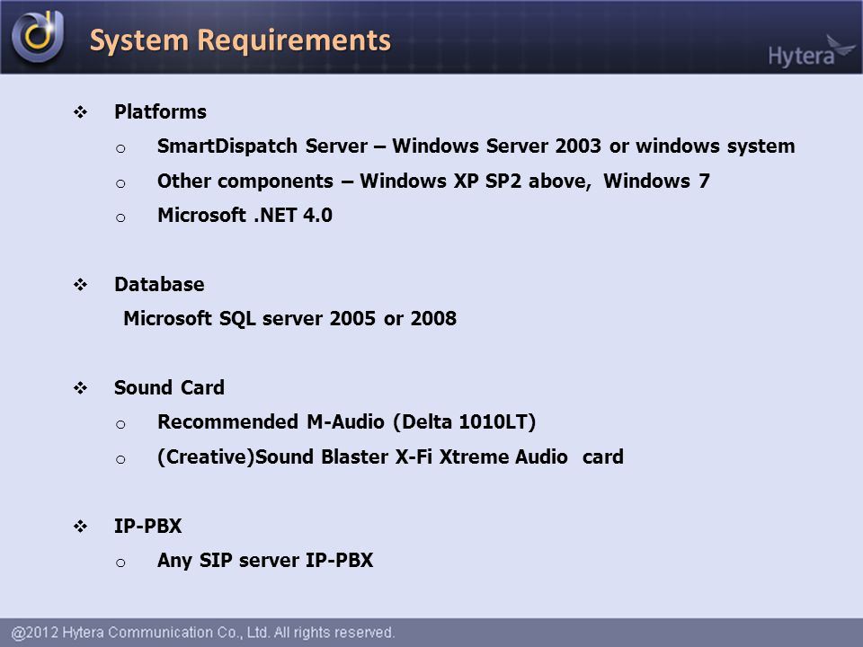 System Requirements Platforms