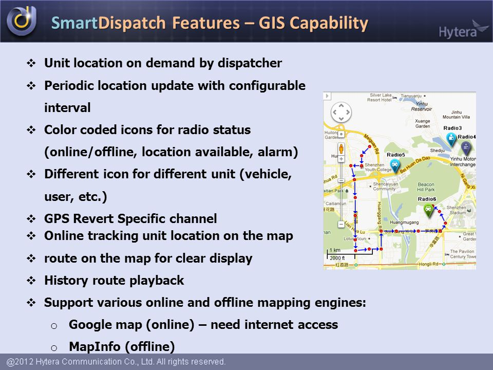 SmartDispatch Features – GIS Capability