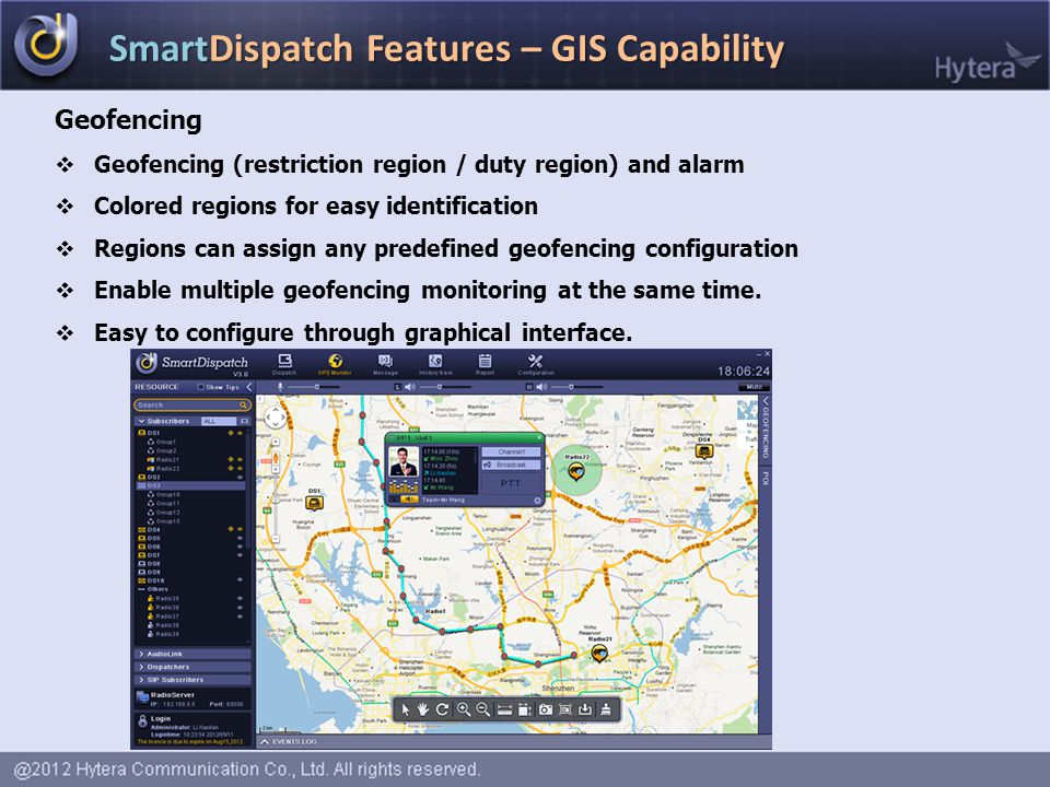 SmartDispatch Features – GIS Capability