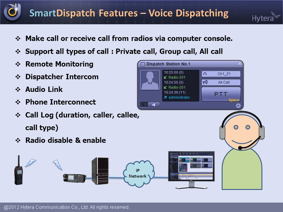 SmartDispatch Features – Voice Dispatching