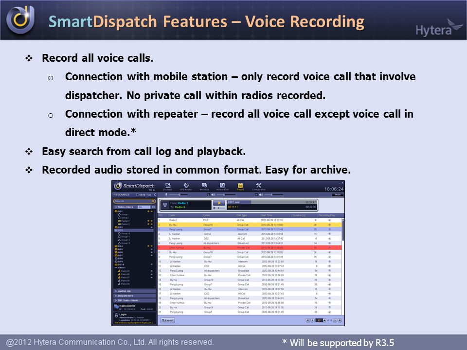 SmartDispatch Features – Voice Recording