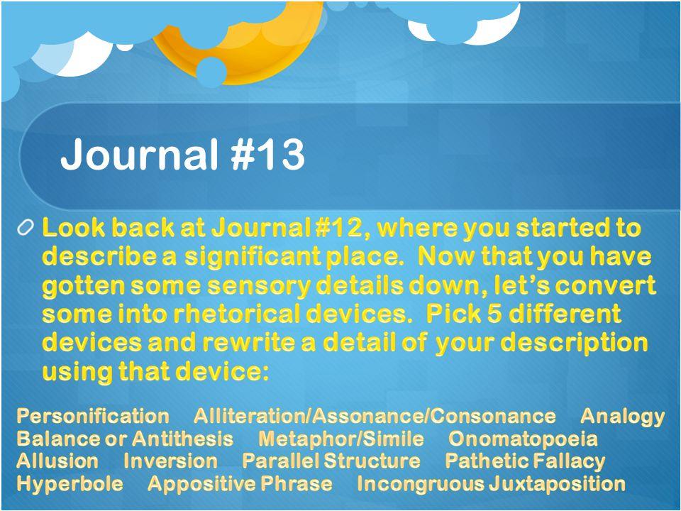 Journal #13