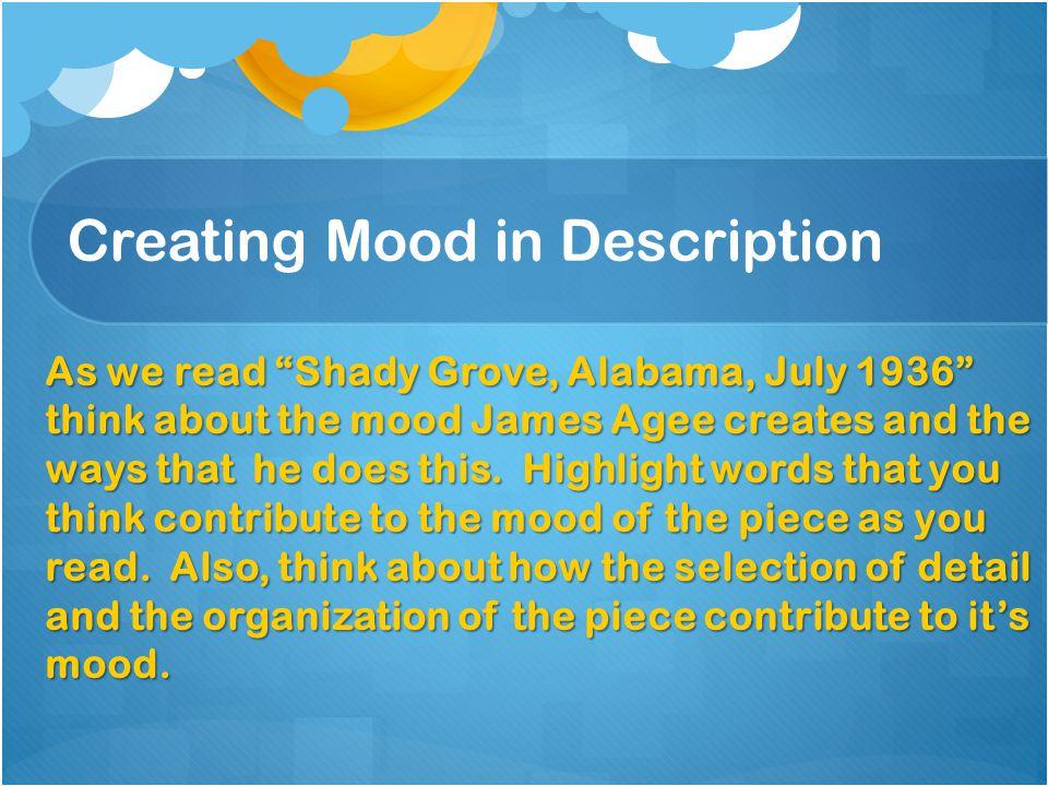 Creating Mood in Description