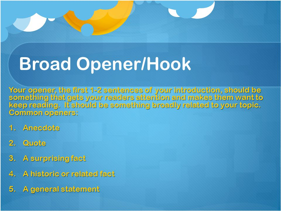 Broad Opener/Hook