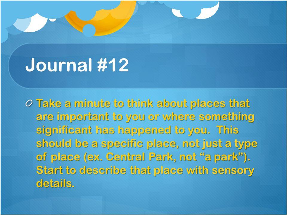 Journal #12