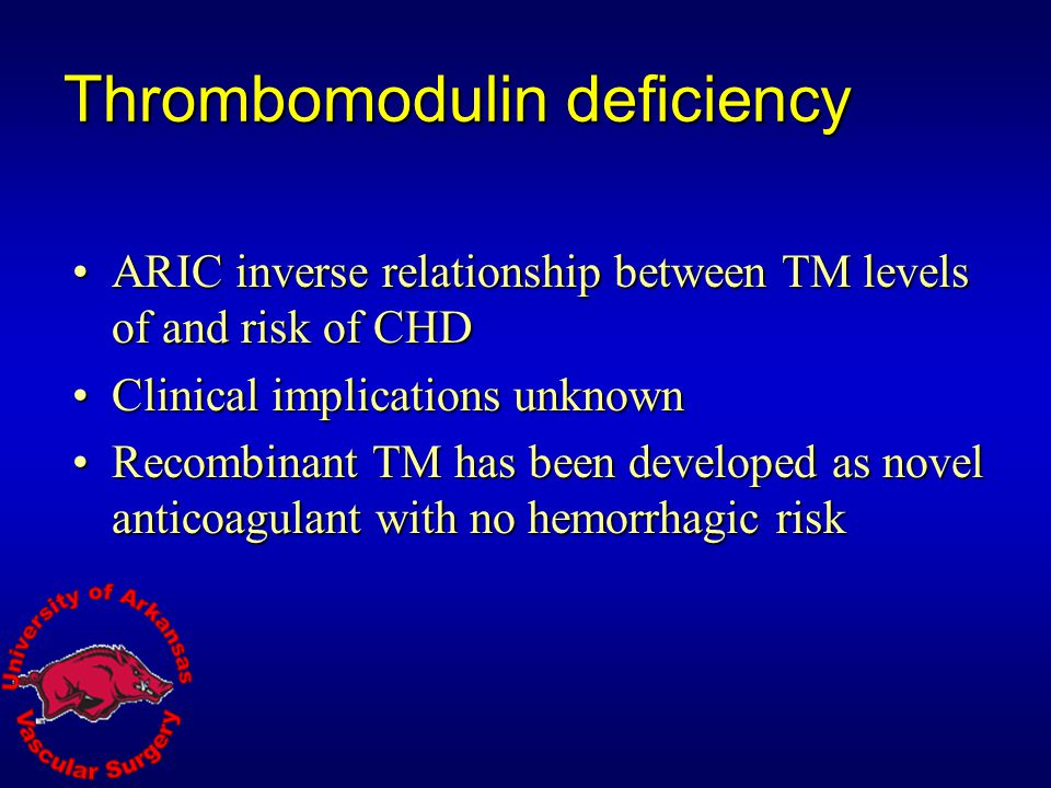Thrombomodulin deficiency