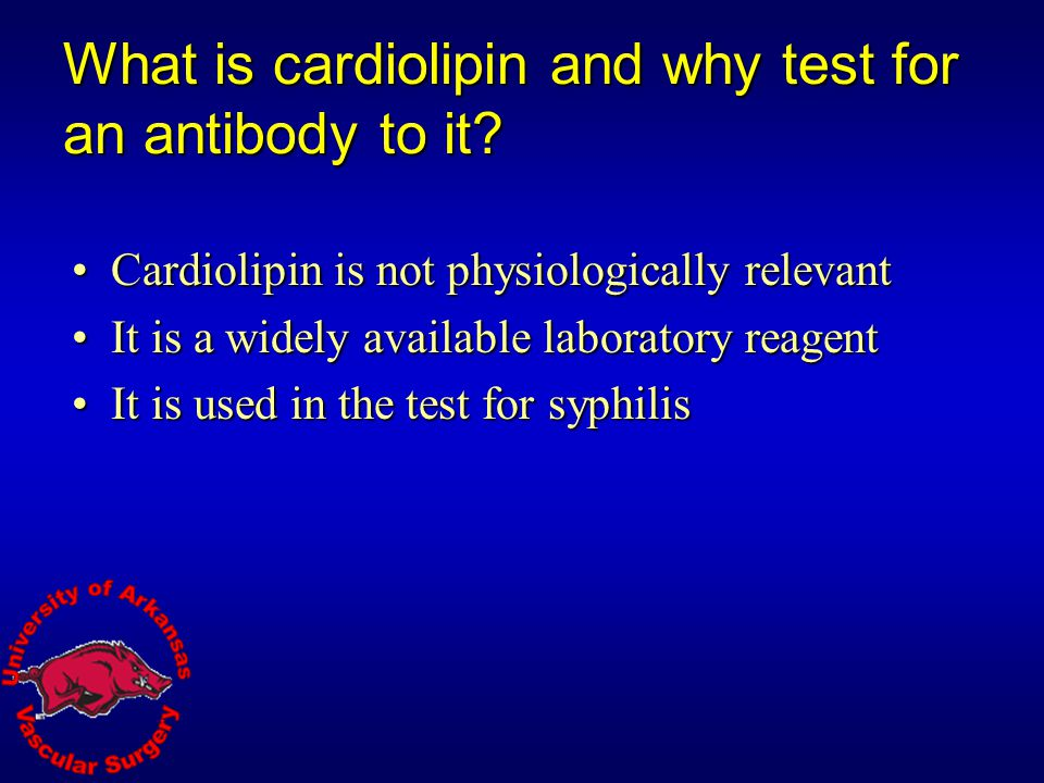 What is cardiolipin and why test for an antibody to it