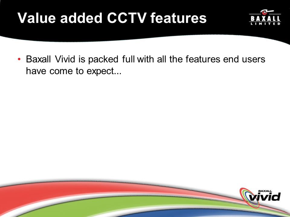 Value added CCTV features