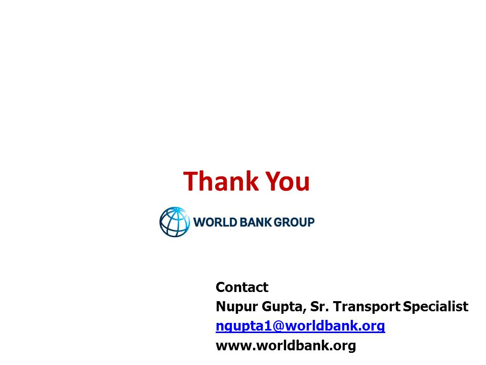 Thank You Contact Nupur Gupta, Sr. Transport Specialist