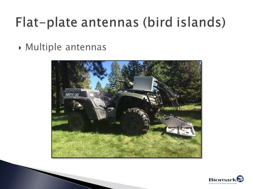 Flat-plate antennas (bird islands)