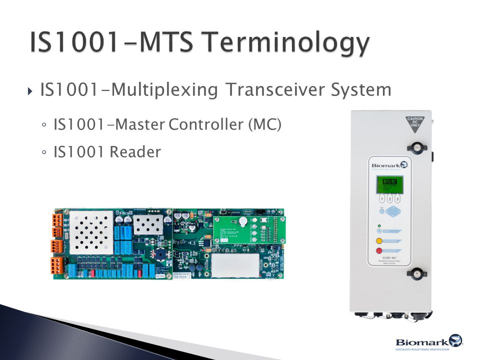 IS1001-MTS Terminology IS1001-Multiplexing Transceiver System