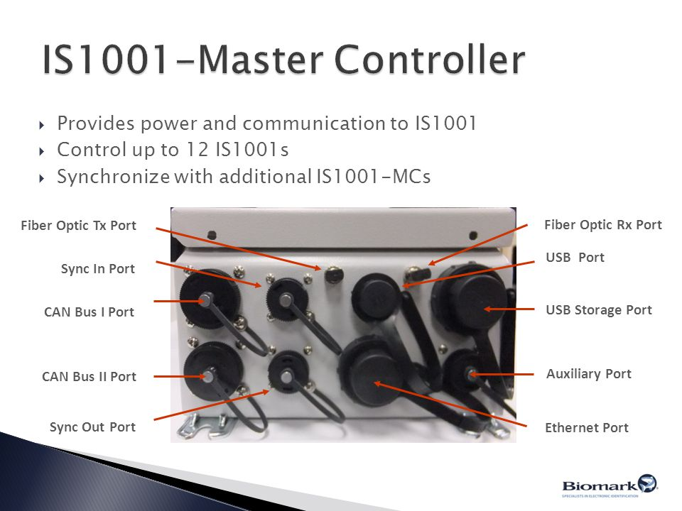 IS1001-Master Controller Provides power and communication to IS1001