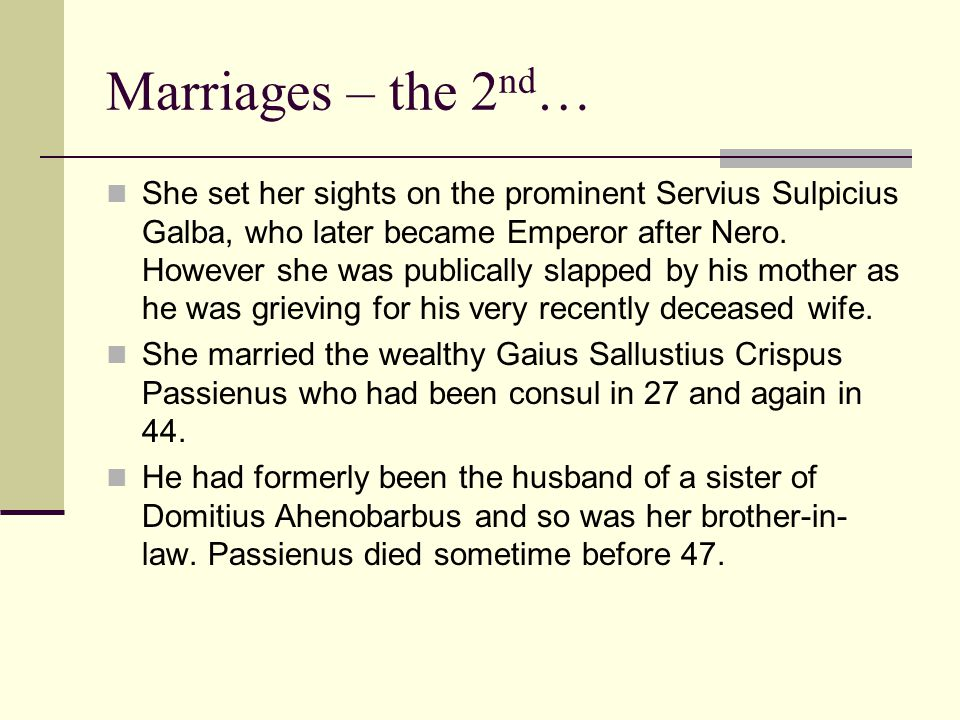 Marriages – the 2nd…