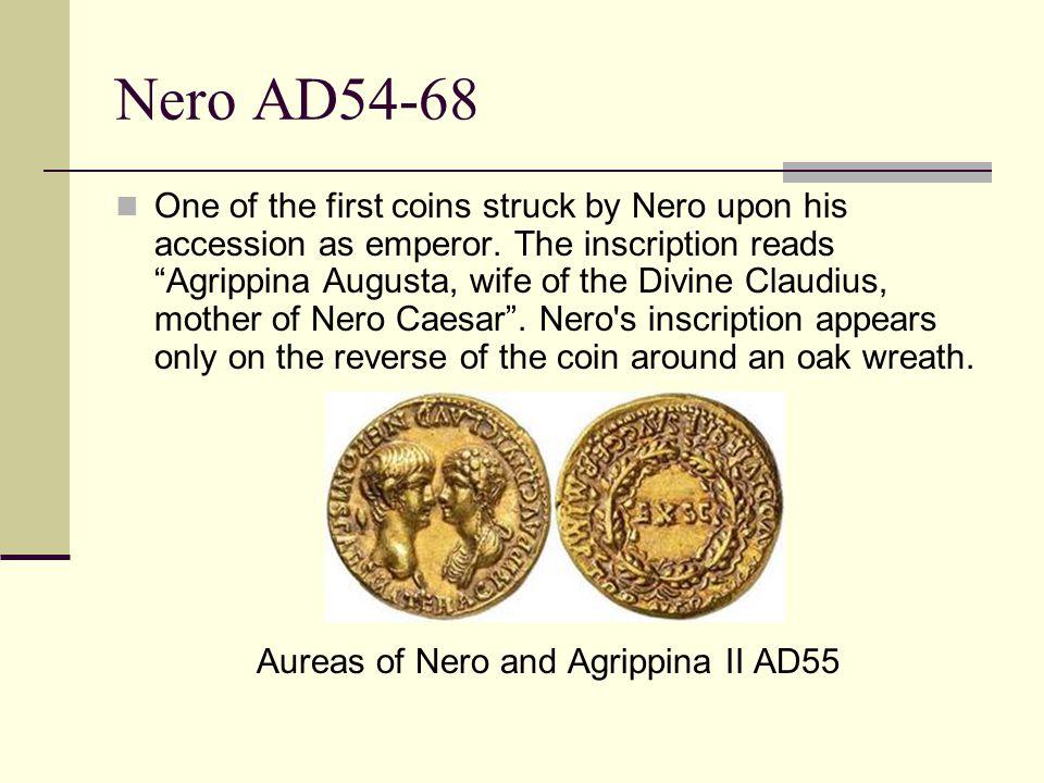 Aureas of Nero and Agrippina II AD55