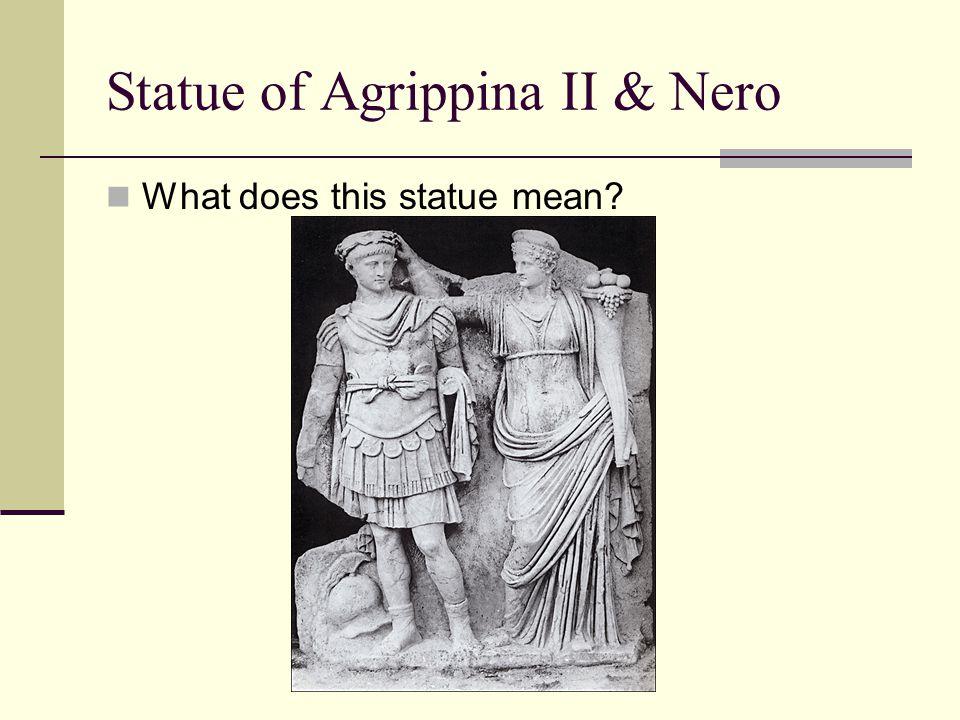 Statue of Agrippina II & Nero