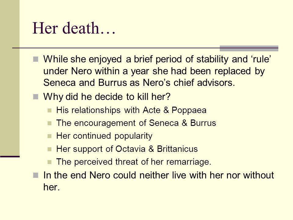 Her death…