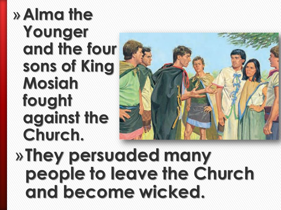 They persuaded many people to leave the Church and become wicked.