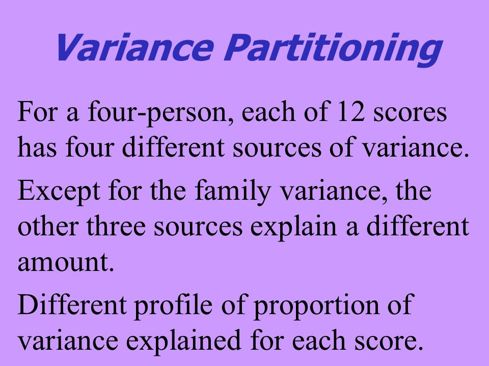Variance Partitioning