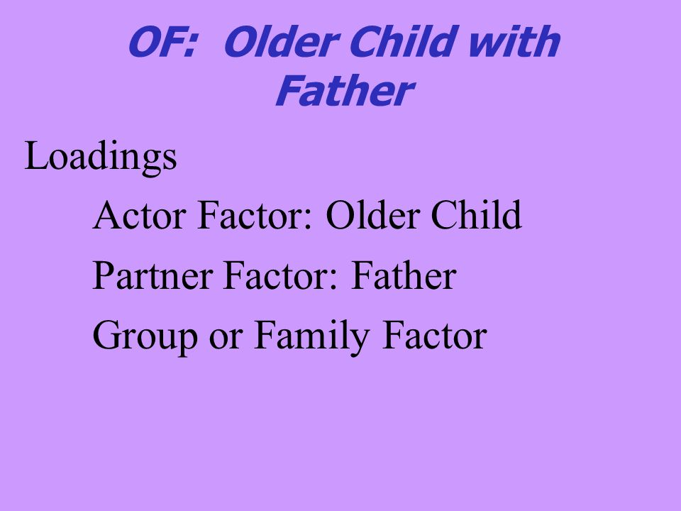 OF: Older Child with Father