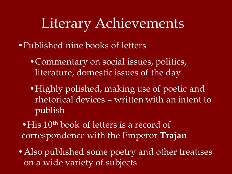 Literary Achievements