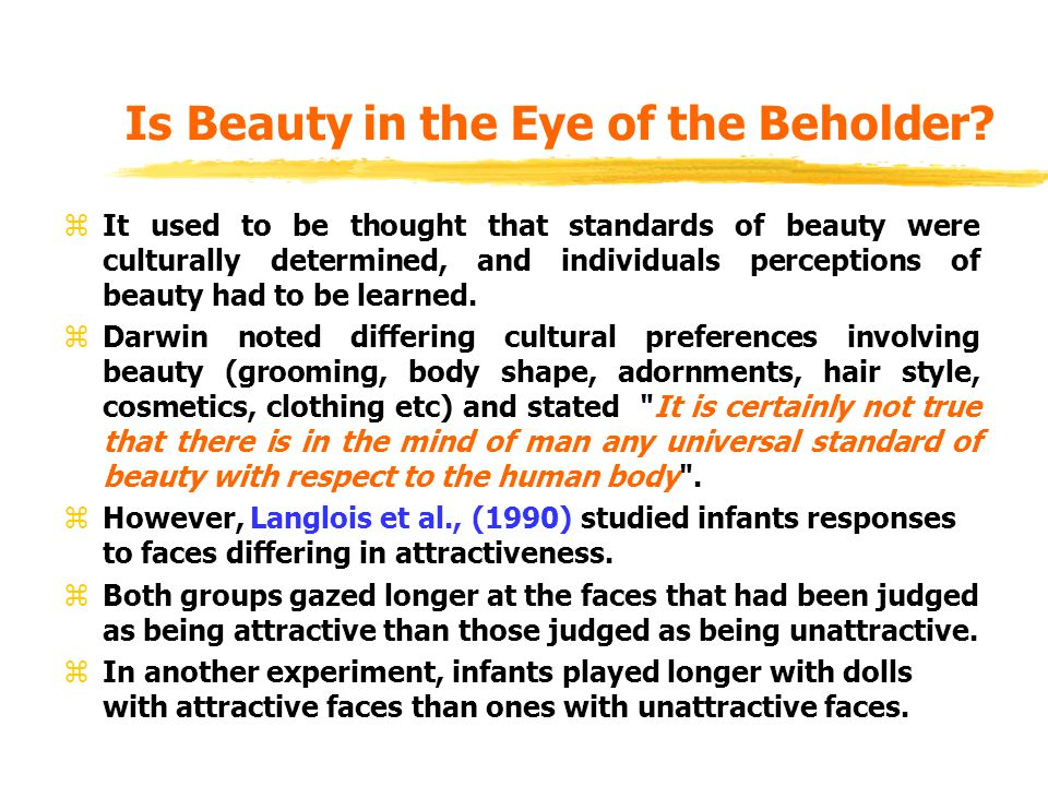 Cultural Effect on Perception of Beauty