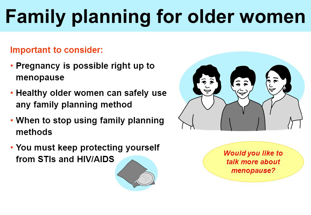 Family planning for older women